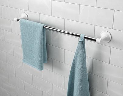 FLEX SURE LOCK towel bar | UMBRA