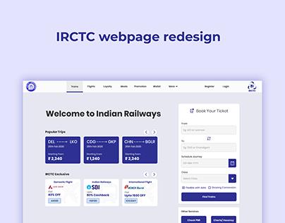 IRCTC webpage redesign.