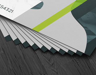 Business Cards with Emboss Mockup
