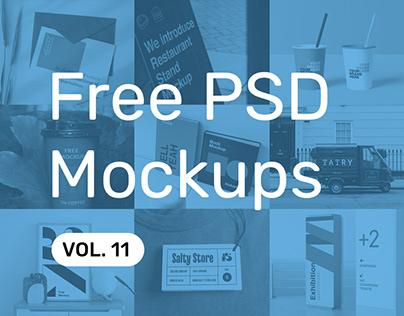 Free PSD Mockups vol. 11