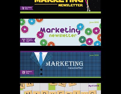 Marketing Newsletter Headers