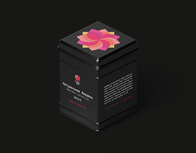 Flora tea. Logo and Packaging