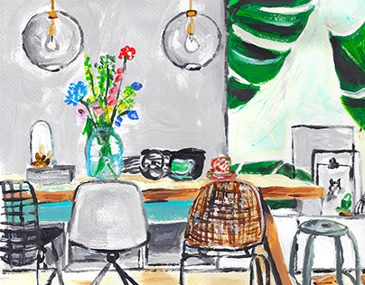 A C R Y L I C / Room Illustration
