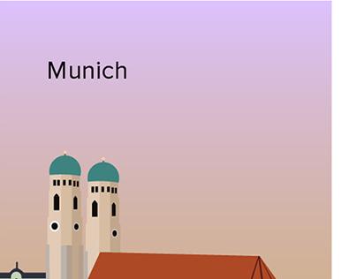 Illustration of German cities