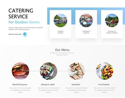 Website design for mobile-pizza service