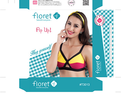 Box packaging for Floret Lingerie