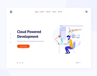 Cloud development landing page