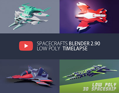 Timelapse Blender 2.90/2.80 LOW POLY 3d speed modeling