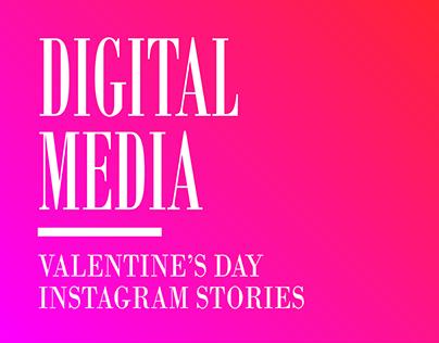 Valentine's day instagram stories
