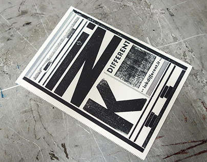 Ink different - letterpress