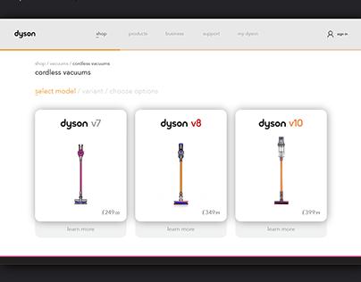 Dyson - Responsive UI/UX Concept