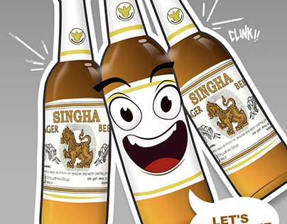 Singha Beer company design characters