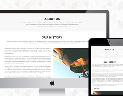 Free Single Page PSD And HTML Template