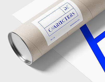 Decharacters - Typographical Branding
