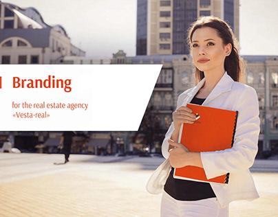 "Branding for the real estate agency ""Vesta-real"""