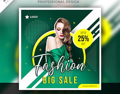 Social media fashion post design