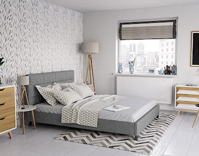 Light Modern Bedroom CGI