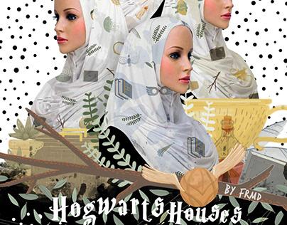 Hogwarts Houses Shawl