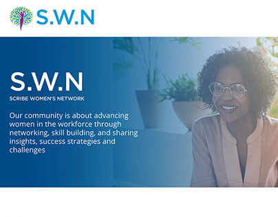 Scribe Women's Network : Logo and Web Design