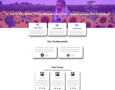 simple and Stylish landing page