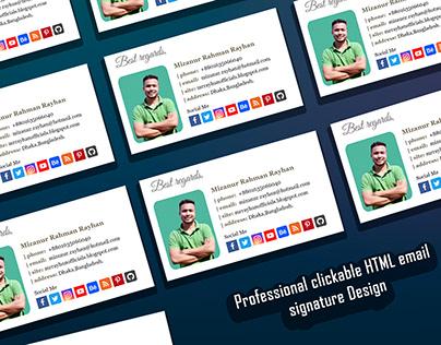 Professional clickable HTML email signature Design-3