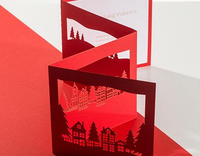 Christmas Village 3D greeting card (2019)