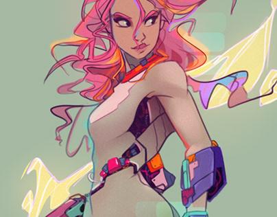 Post Modern Cyborg Fit Girl