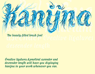 Kanijna, the beauty-filled brush font