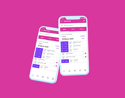 ToDo List Page design for Daily Task Mobile Application