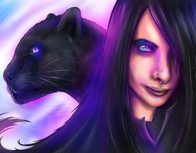 Gothic Girl & Black Panther