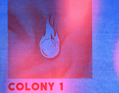 COLONY 1 Martian Press Anthology Cover Design