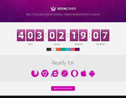RoyalTimer Multicolor Countdown Timer WordPress Plugin