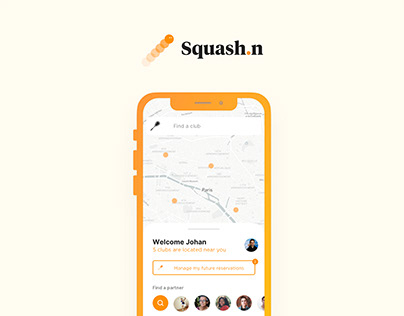 SQUASH.N — Play squash anywhere with matching partners