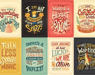 Letters4Ham: Hand-lettered Hamilton Lyric Posters