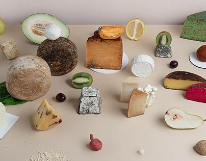 Still life. Cheese
