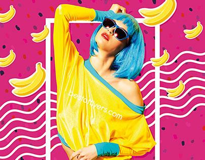 Banana Party Flyer Template