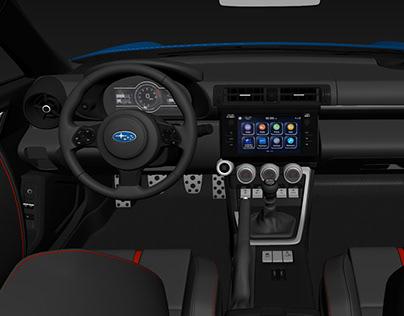 Subaru BRZ 2021 with detailed interior