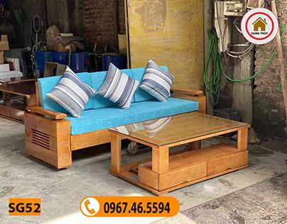 sofa mini gỗ sồi Nga SG52