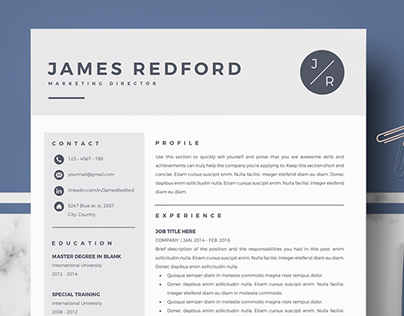 Professional resume template for Mac Pages and Word