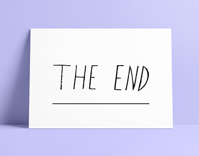 "Poster - ""The End"""