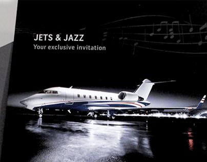 Jets & Jazz Invitation | Front | Bombardier Flexjet
