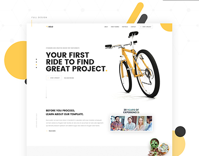 Bold - Creative & Minimal One Page Website