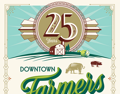 25 Years Downtown SLC Farmers Market Poster