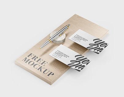 FREE Business Cards & Pen Mockup