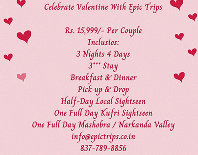 Special Valentine's Day Tour Package To Shimla