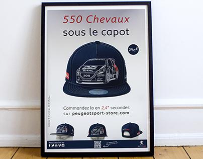 Communication Graphique pour Peugeot Sport