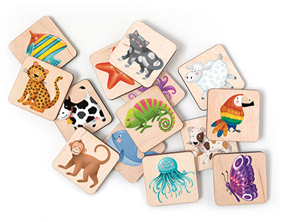 KIDS LOTTO / cute animal illustrations for kids toys