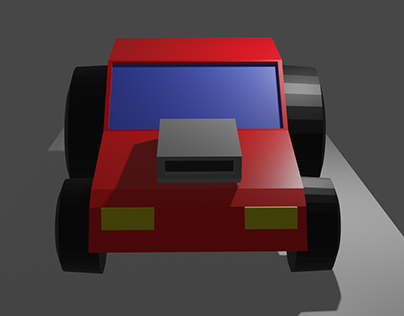 3D Blender Graphics - Blender Racing Car