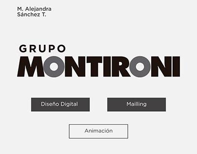 Trabajos varios de diseño digital para Montironi