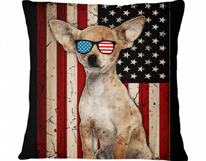 Patriotic Chihuahua Sunglasses American Flag Dog Breeds